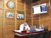 El Gobernador Departamental de Izabal Lic. Héctor Alarcón, sostuvo reunión virtual Ordinaria de CODESAN