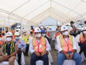 El Gobernador Departamental de Izabal Lic. Héctor Alarcón, Asistió a las instalaciones Terminal Ferroviarias donde se realizó el evento del primer Arribo del Buque Dole AZTEC en el Municipio de Puerto Barrios Izabal