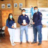 El Gobernador Departamental de Izabal Lic. Héctor Alarcón, recibió una Donacion de 5 Dispensadores de Alcohol en Gel y Medidores Temperatura, por parte del Administrador Único de Ferrovias Guatemala, Lic. Carlos Estrada