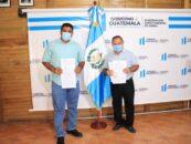 El Gobernador Departamental de Izabal Lic. Héctor Alarcón llevó a cabo la firma de cinco convenios junto al Lic. Joel Lorenzo Alcalde del Municipio de El Estor, convenio de Ejecución 2021