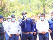 Colocan la primera Piedra del Proyecto de Carretera Rural de La Aldea la Vegona Morales Izabal