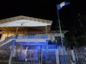 En conmemoración al Día Mundial contra la Trata de Personas, Gobernación Departamental de Izabal se ilumina de azul
