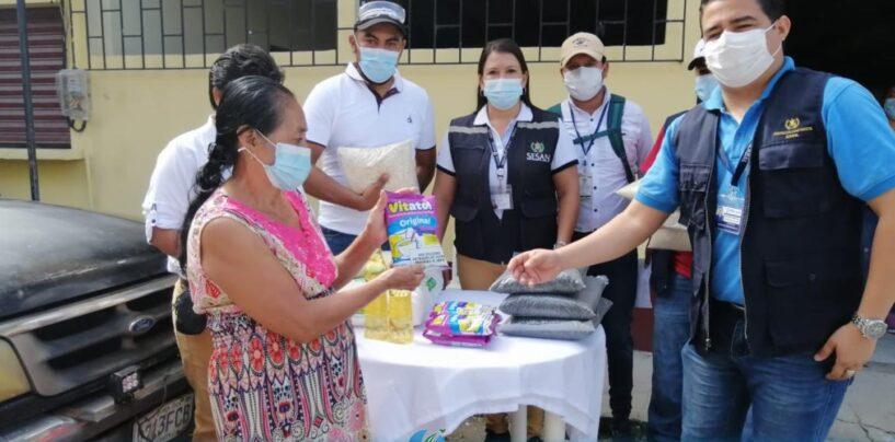 Entregan raciones de asistencia alimentaria a 142 familias de distintas comunidades del Municipio de Morales Izabal