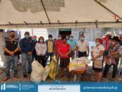 Realizan entrega de ayuda alimentaria a 112 familias de distintas comunidades del municipio de Los Amates
