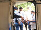 El Sr. Gobernador Departamental de Izabal Lic. Héctor Alarcón, participó en la entrega de la clínica epidemiológica en el Puesto de Control Fronterizo de Corinto, Guatemala – Honduras
