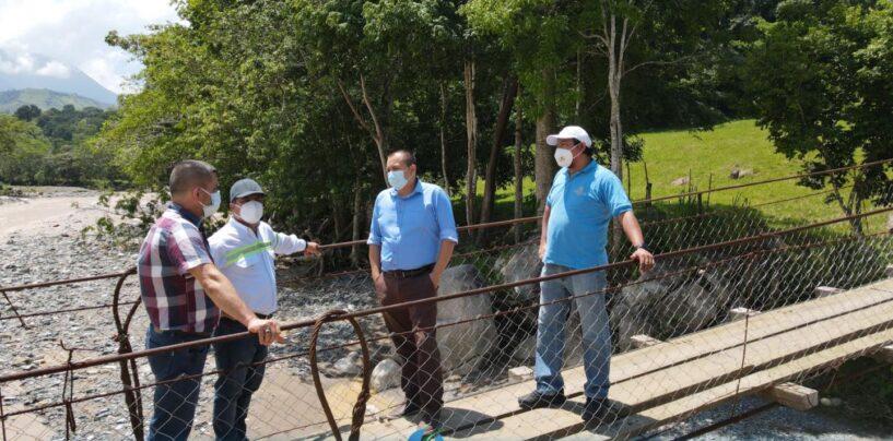 Realizan supervisión de tres Puentes que fueron dañados por las Tormentas ETA, IOTA.