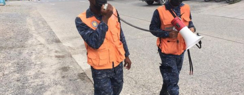 Brigada de Infantería de Marina, realizó perifoneo, informando a la población sobre las medidas de prevención contra el COVID-19